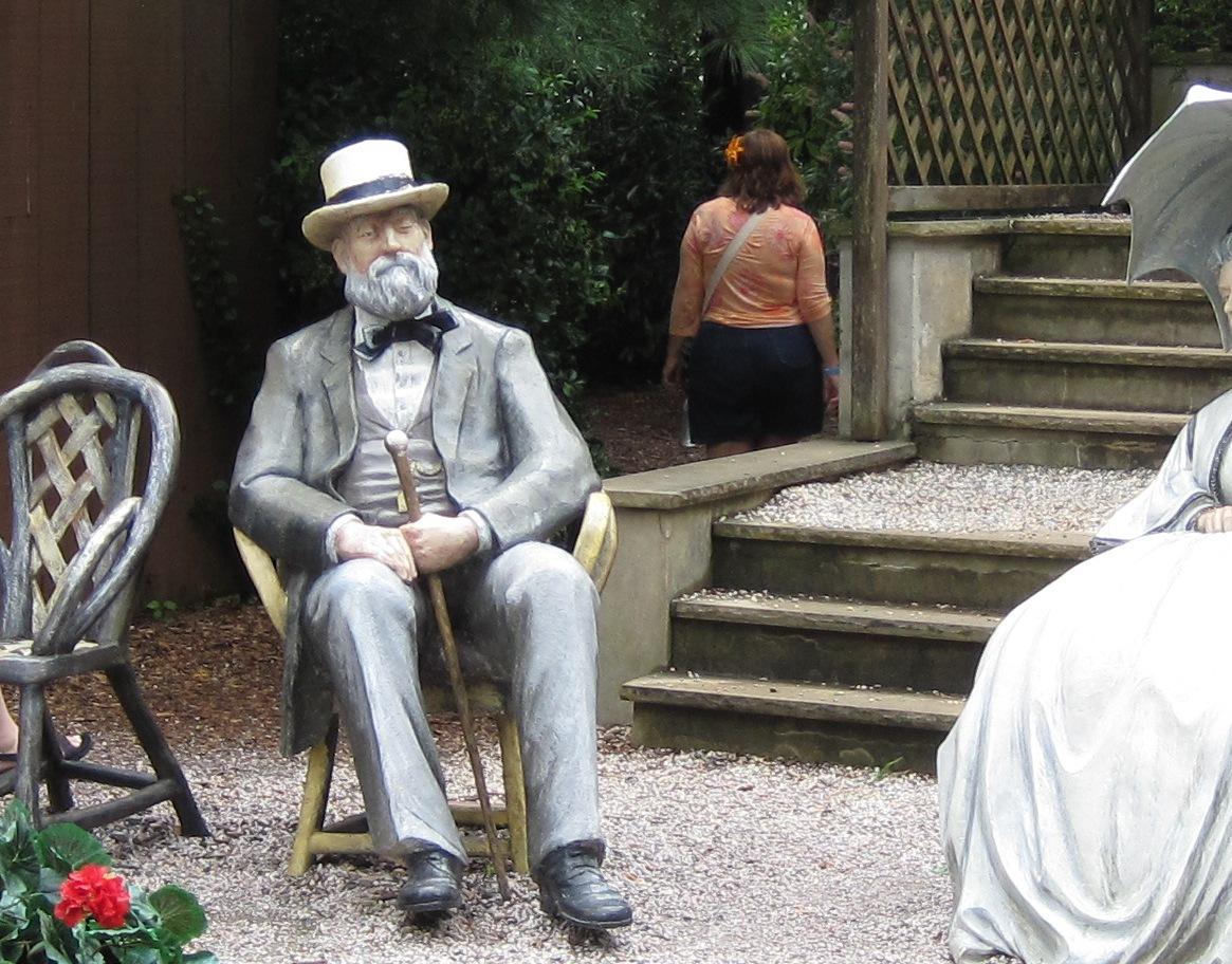 Older man sitting in chair
