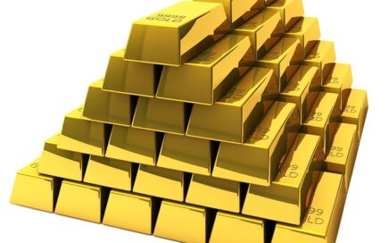 gold bars representing lost money